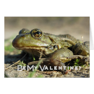 Be My Valentine. Frog The Prince Greeting card