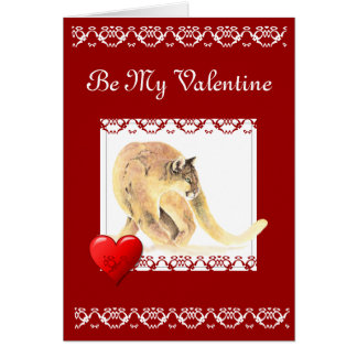 Be my Valentine Grow Old with Me Quote Cougar Card