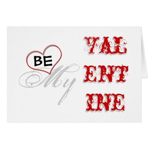 Be my valentine modern fun greeting cards
