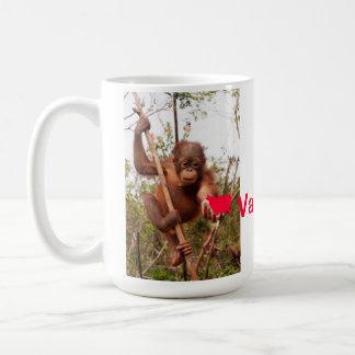 Be My Valentine Orangutan Fan Coffee Mug