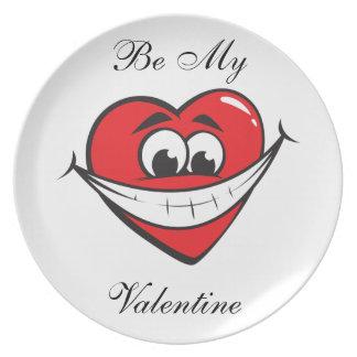 Be My Valentine Plate