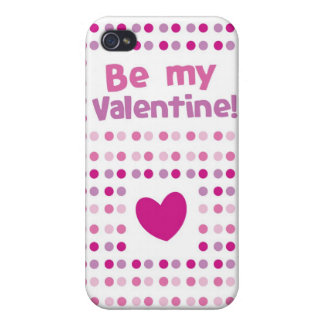 Be my Valentine spotty card products iPhone 4 Cases