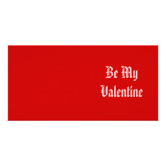 Be My Valentine Valentine s Day Red and Pink Picture Card
