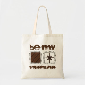 Be My Valentine Valentine's Day Chocolates Tote Budget Tote Bag