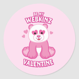 Be My Webkinz Valentine Classic Round Sticker