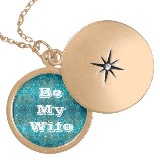 Be My Wife green pattern Locket