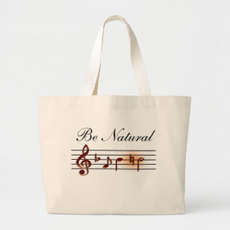 Be Natural Music Tote Jumbo Tote Bag