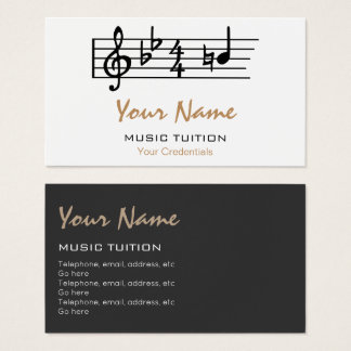 Be Natural Music Tutor Business Cards