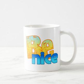 BE NICE CLASSIC WHITE COFFEE MUG