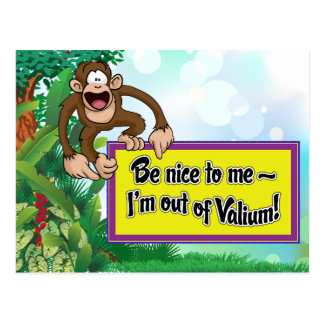 Be Nice to Me- I'm Out of Valium! Postcard