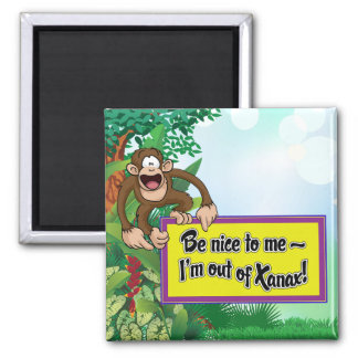 Be Nice to Me- I'm Out of Xanax! Square Magnet