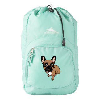 Be nice to the cute black mask fawn Frenchie Backpack