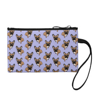 Be nice to the cute black mask fawn Frenchie Coin Purse