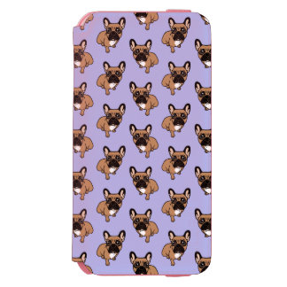 Be nice to the cute black mask fawn Frenchie Incipio Watson™ iPhone 6 Wallet Case