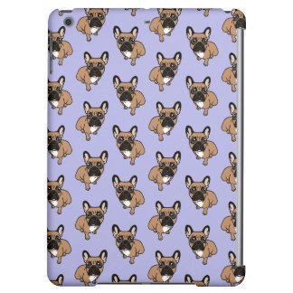 Be nice to the cute black mask fawn Frenchie iPad Air Cover