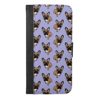Be nice to the cute black mask fawn Frenchie iPhone 6/6s Plus Wallet Case