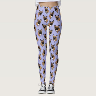 Be nice to the cute black mask fawn Frenchie Leggings