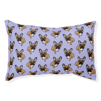Be nice to the cute black mask fawn Frenchie Pet Bed
