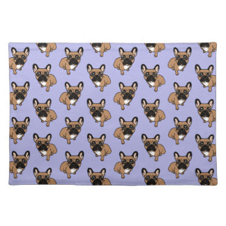 Be nice to the cute black mask fawn Frenchie Placemat