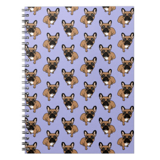 Be nice to the cute black mask fawn Frenchie Spiral Notebook