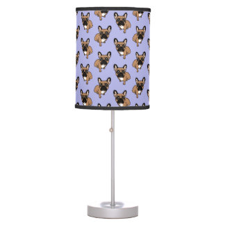 Be nice to the cute black mask fawn Frenchie Table Lamp