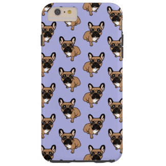 Be nice to the cute black mask fawn Frenchie Tough iPhone 6 Plus Case