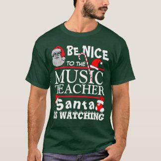 Be Nice to the Music Teacher Green T-Shirt