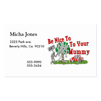 Be Nice To Your Mummy Business Card