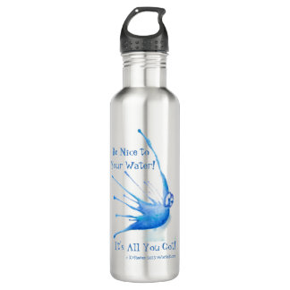 Be Nice to Your Water Bottle, Stainless Steel/24oz 710 Ml Water Bottle