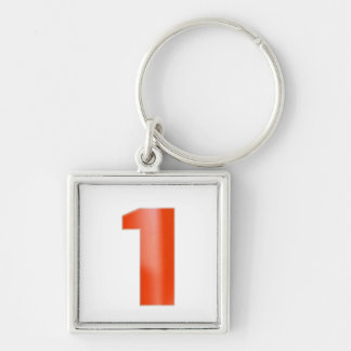 Be NUMBER ONE - Keep right color image association Silver-Colored Square Keychain