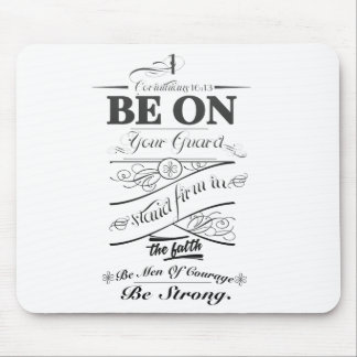 Be on guard!! mouse pad