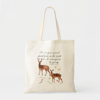 Be On Your Guard, Be Courageous, Be Strong Tote Bag