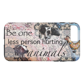 Be one less person hurting animals Case-Mate iPhone case