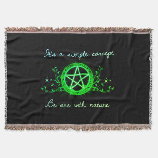 Be One With Nature Throw Blanket