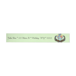 Be One With The Earth Wraparound Address Label