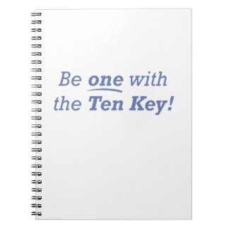 Be one with the Ten Key! Notebooks