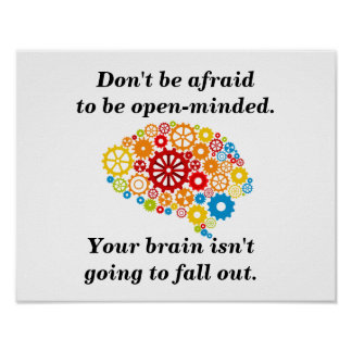 Be open-minded poster