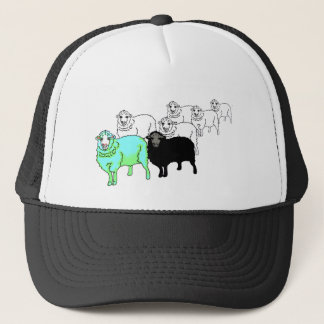 Be Original- Aquamarine Sheep Trucker Hat