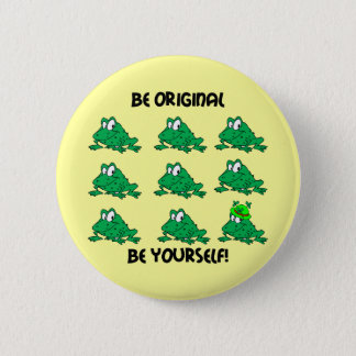 Be original Irish frog 2 Inch Round Button