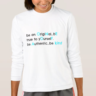 be original.... ONE OF A KIND (black & aqua) T-Shirt