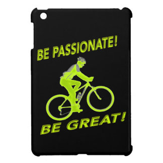 Be Passionate! Be Great! Mountain Biker Green iPad Mini Case