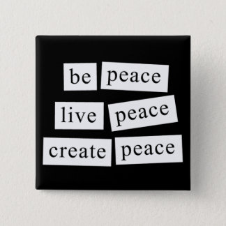 Be Peace 2 Inch Square Button