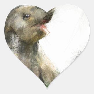 be playful heart sticker