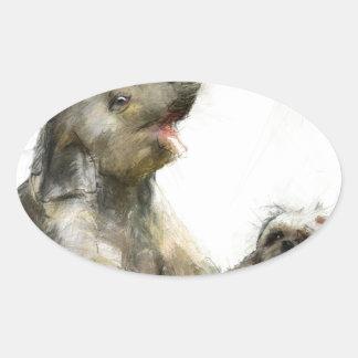 be playful oval sticker