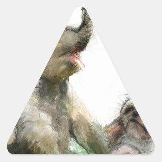 be playful triangle sticker