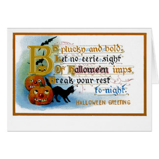 Be Plucky and Bold at Halloween Card