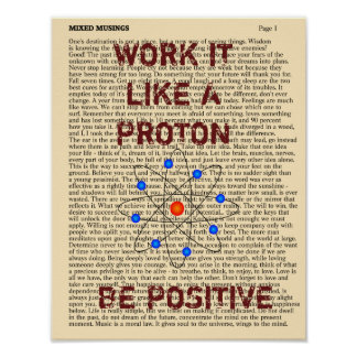 BE POSITIVE -- Art print