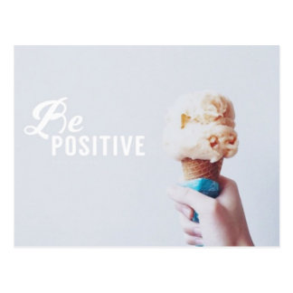 Be Positive Postcard