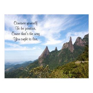 Be positive postcards