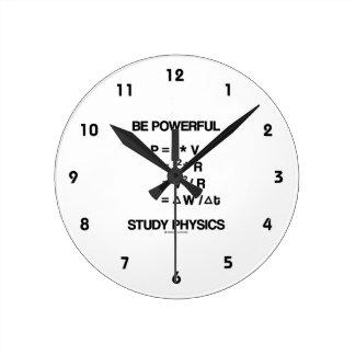 Be Powerful (Power Equations) Study Physics Wallclock